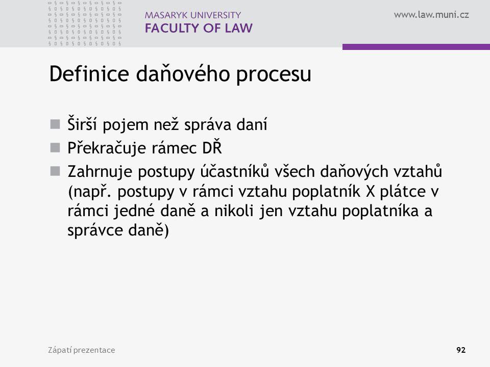 Definice daňového procesu