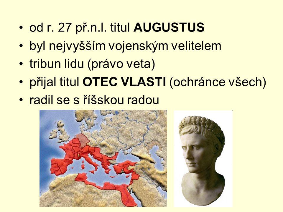 od r. 27 př.n.l. titul AUGUSTUS