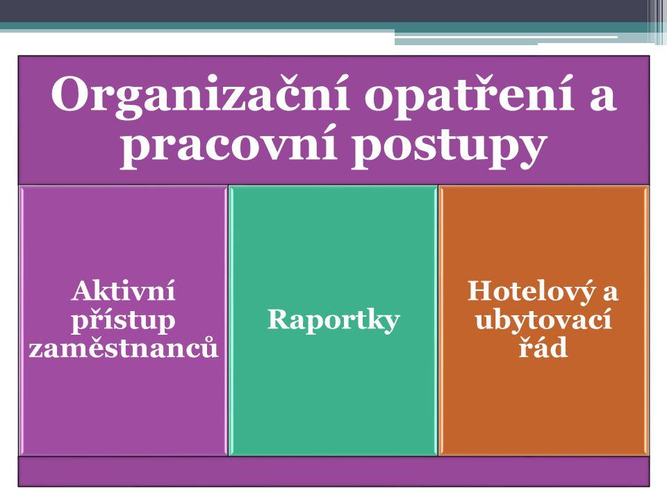 Organizační opatření a pracovní postupy