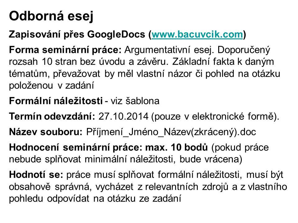 Odborná esej Zapisování přes GoogleDocs (www.bacuvcik.com)