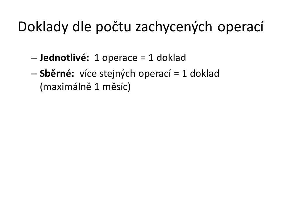 Doklady dle počtu zachycených operací