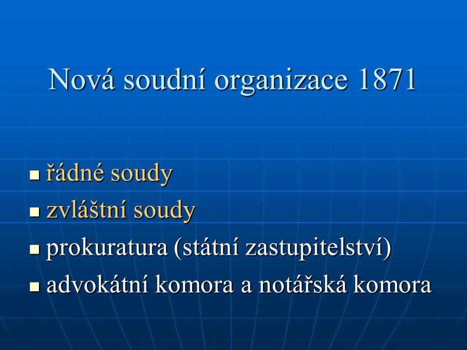 Nová soudní organizace 1871