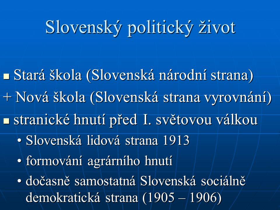 Slovenský politický život