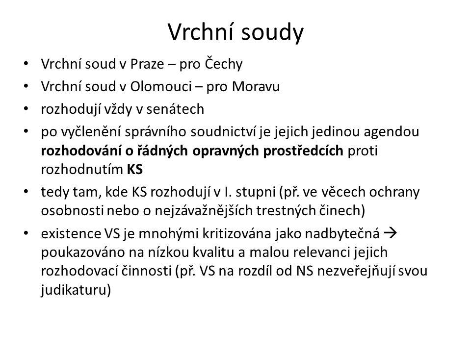 Vrchní soudy Vrchní soud v Praze – pro Čechy