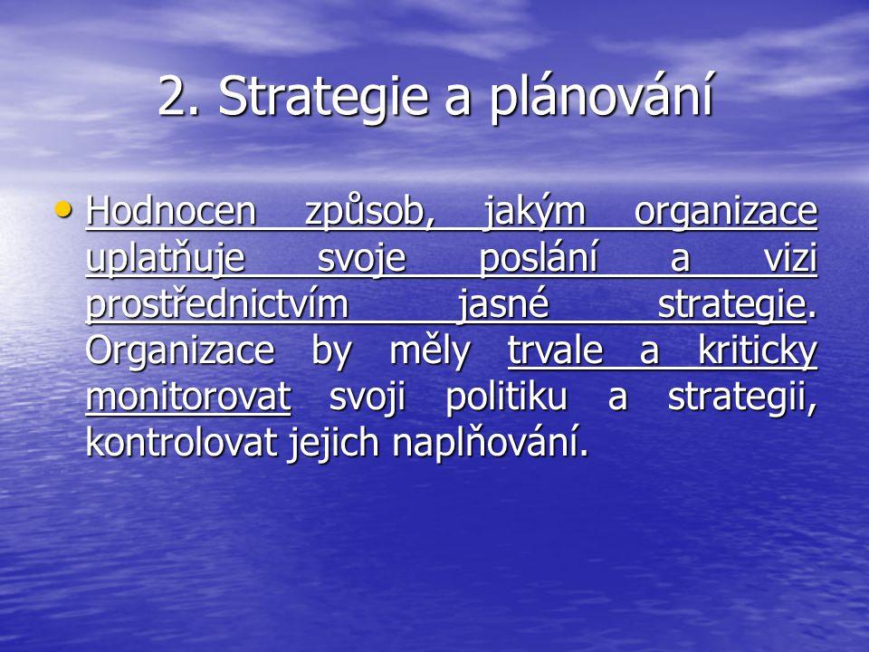 2. Strategie a plánování
