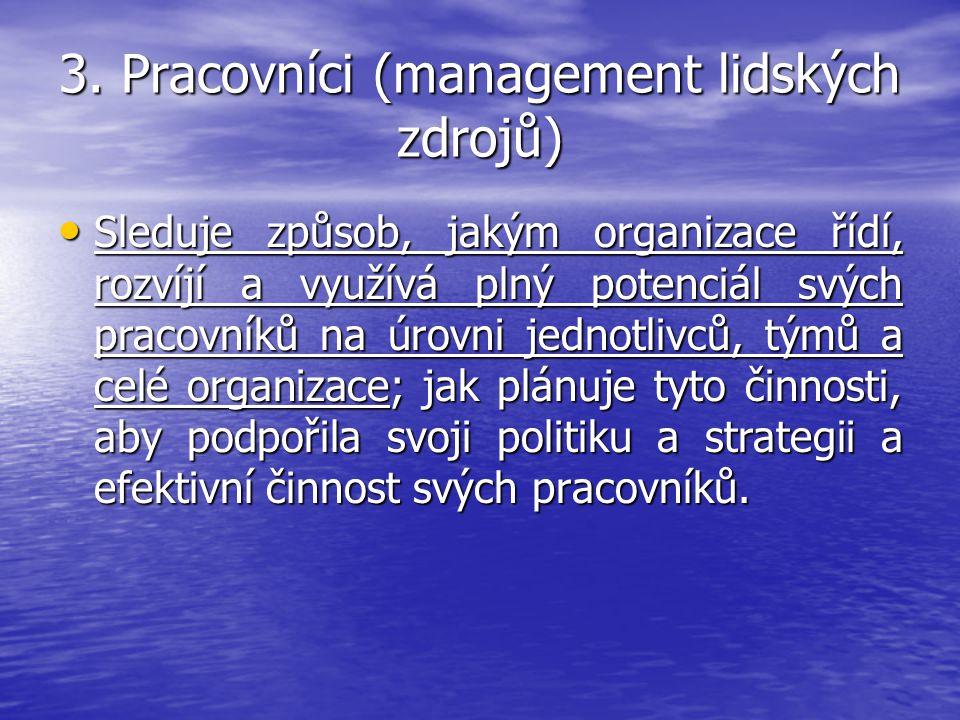 3. Pracovníci (management lidských zdrojů)