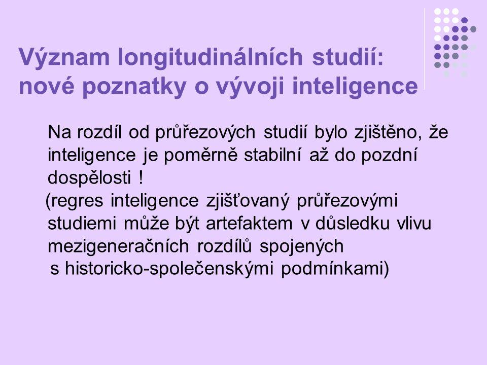 Význam longitudinálních studií: nové poznatky o vývoji inteligence