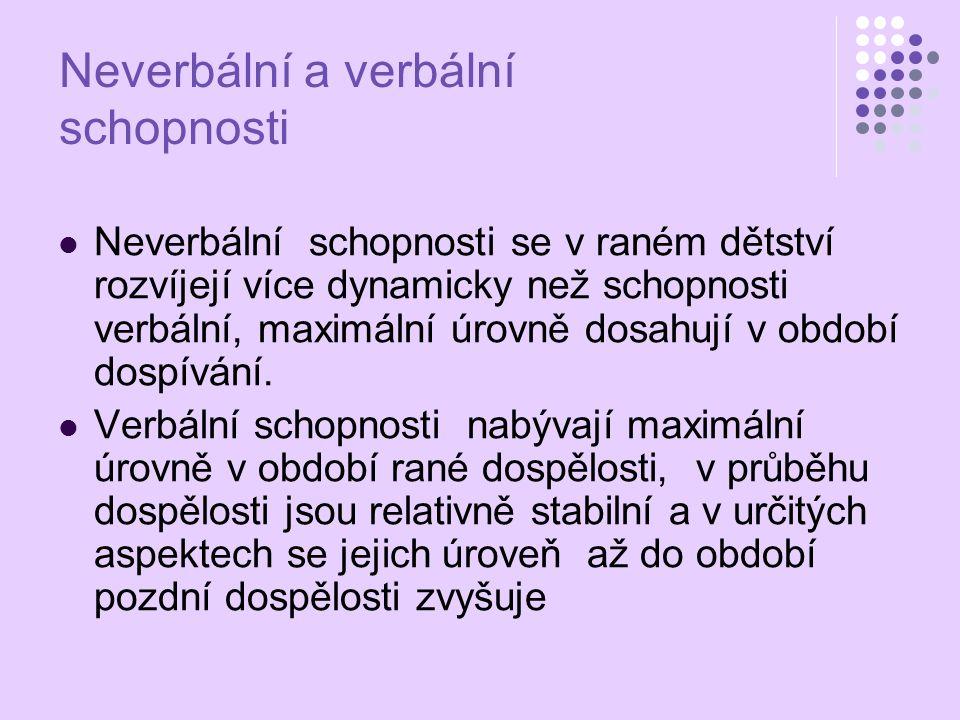 Neverbální a verbální schopnosti