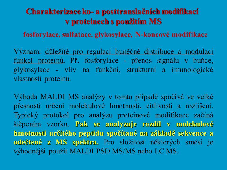 Charakterizace ko- a posttranslačních modifikací