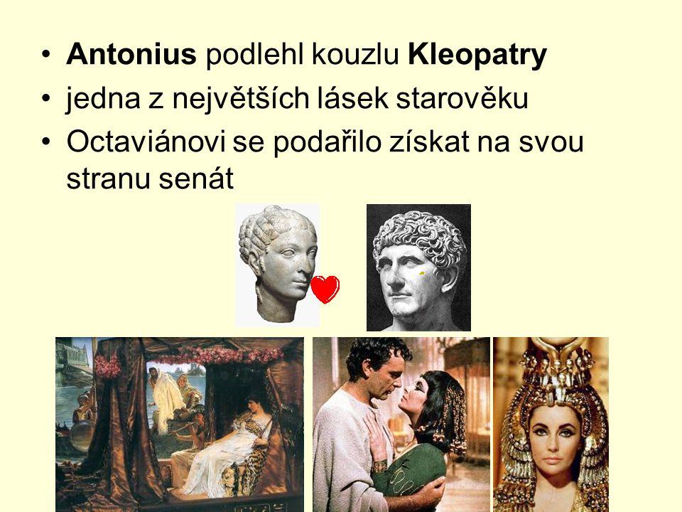 Antonius podlehl kouzlu Kleopatry
