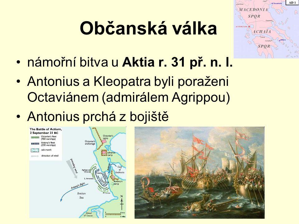 Občanská válka námořní bitva u Aktia r. 31 př. n. l.