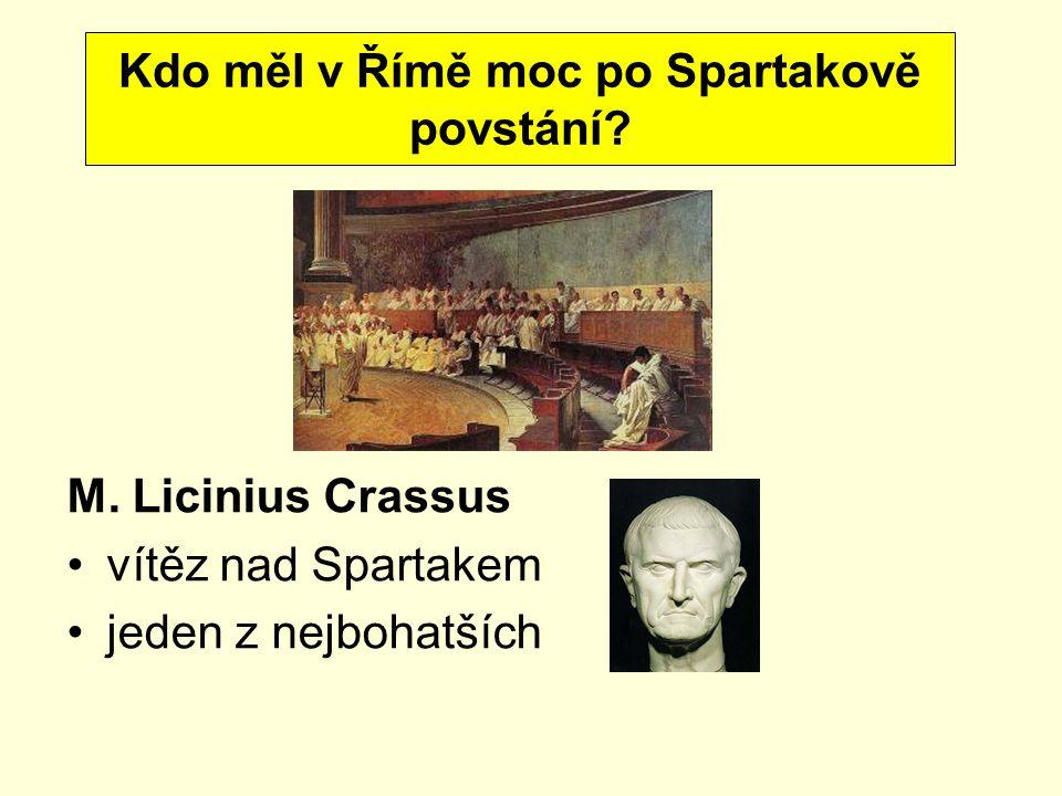 Kdo měl v Římě moc po Spartakově povstání