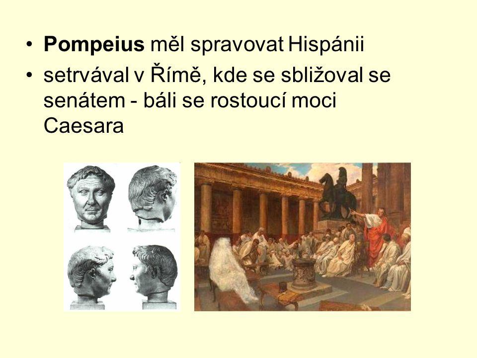Pompeius měl spravovat Hispánii