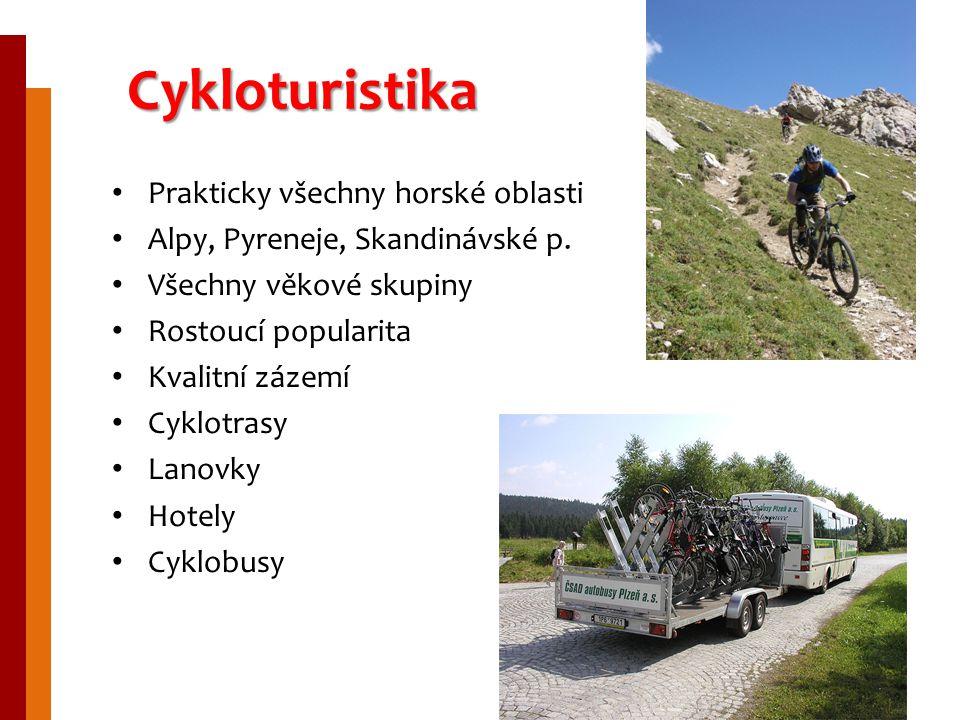 Cykloturistika Prakticky všechny horské oblasti