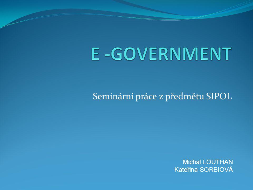 Seminární práce z předmětu SIPOL