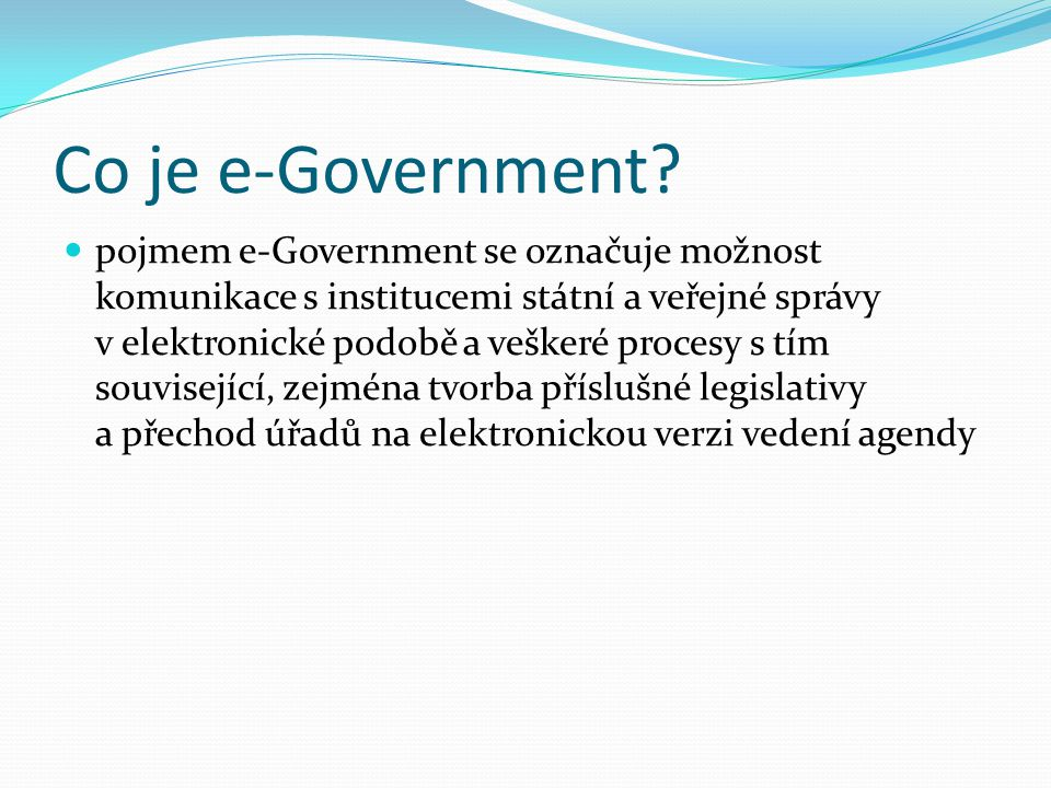 Co je e-Government