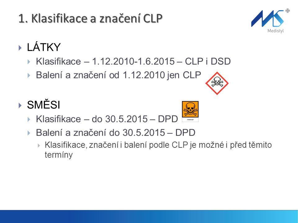 1. Klasifikace a značení CLP