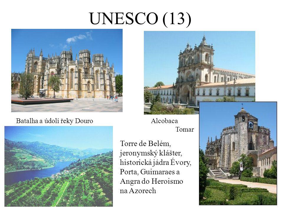 UNESCO (13) Batalha a údolí řeky Douro. Alcobaca. Tomar.