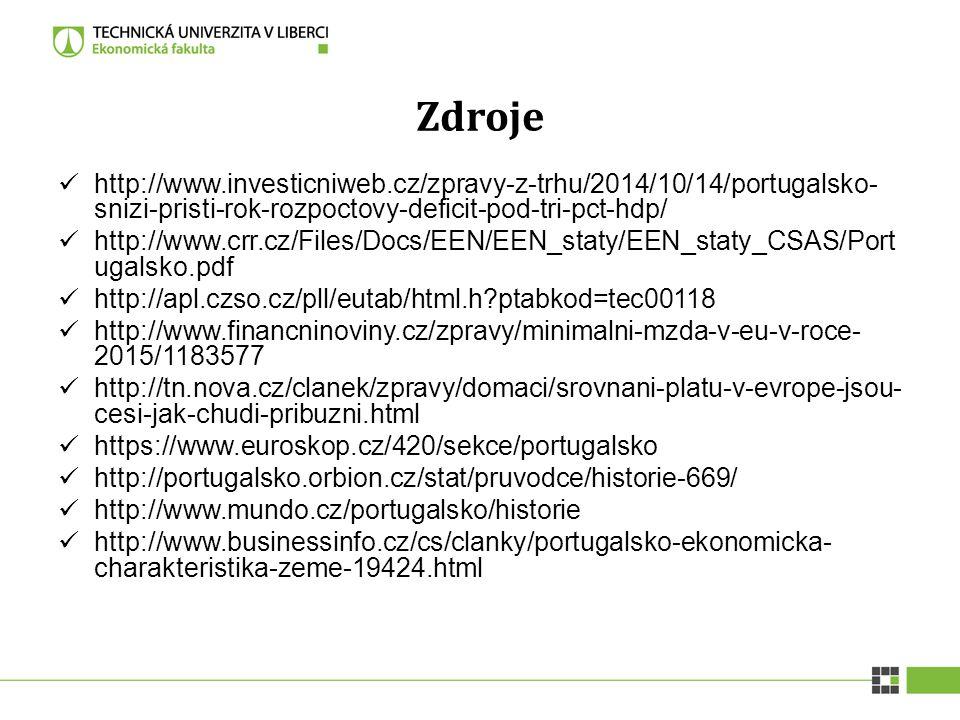 Zdroje http://www.investicniweb.cz/zpravy-z-trhu/2014/10/14/portugalsko-snizi-pristi-rok-rozpoctovy-deficit-pod-tri-pct-hdp/