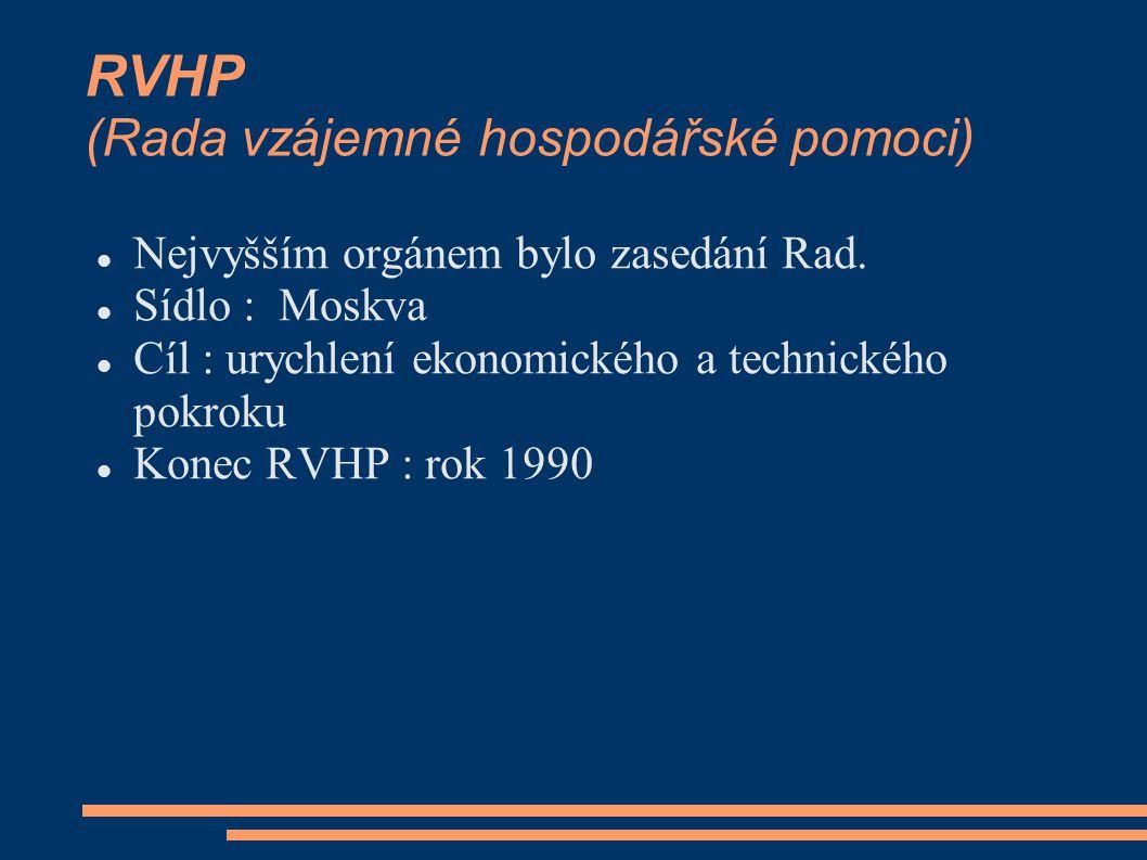 RVHP (Rada vzájemné hospodářské pomoci)