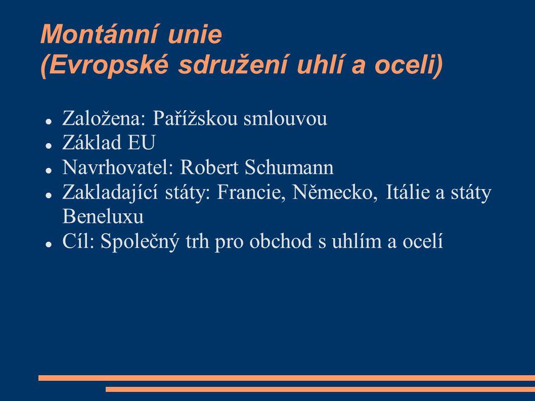 Montánní unie (Evropské sdružení uhlí a oceli)
