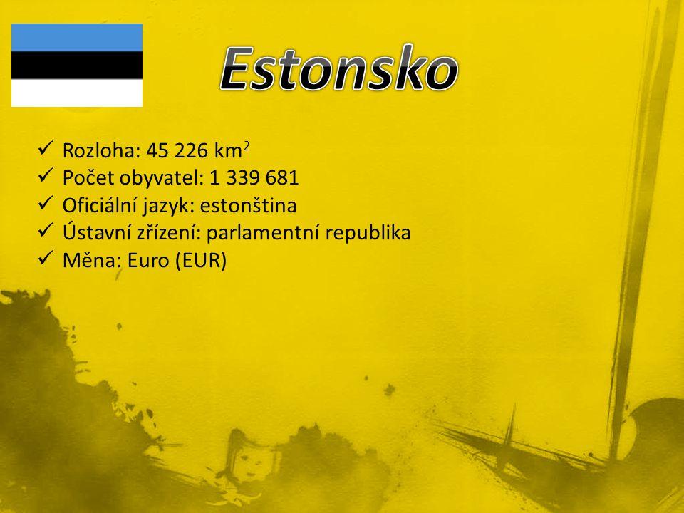 Estonsko Rozloha: 45 226 km2 Počet obyvatel: 1 339 681