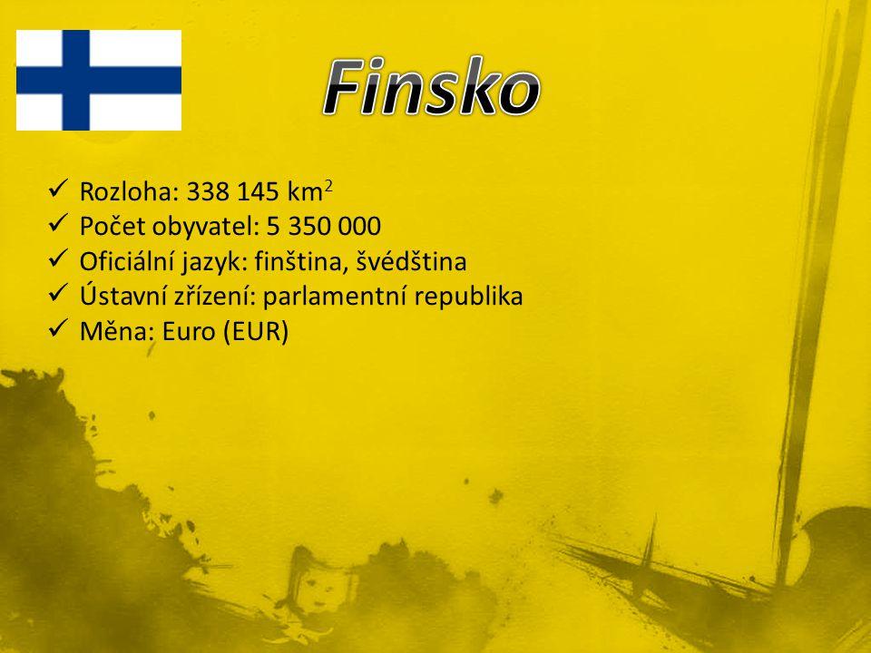 Finsko Rozloha: 338 145 km2 Počet obyvatel: 5 350 000