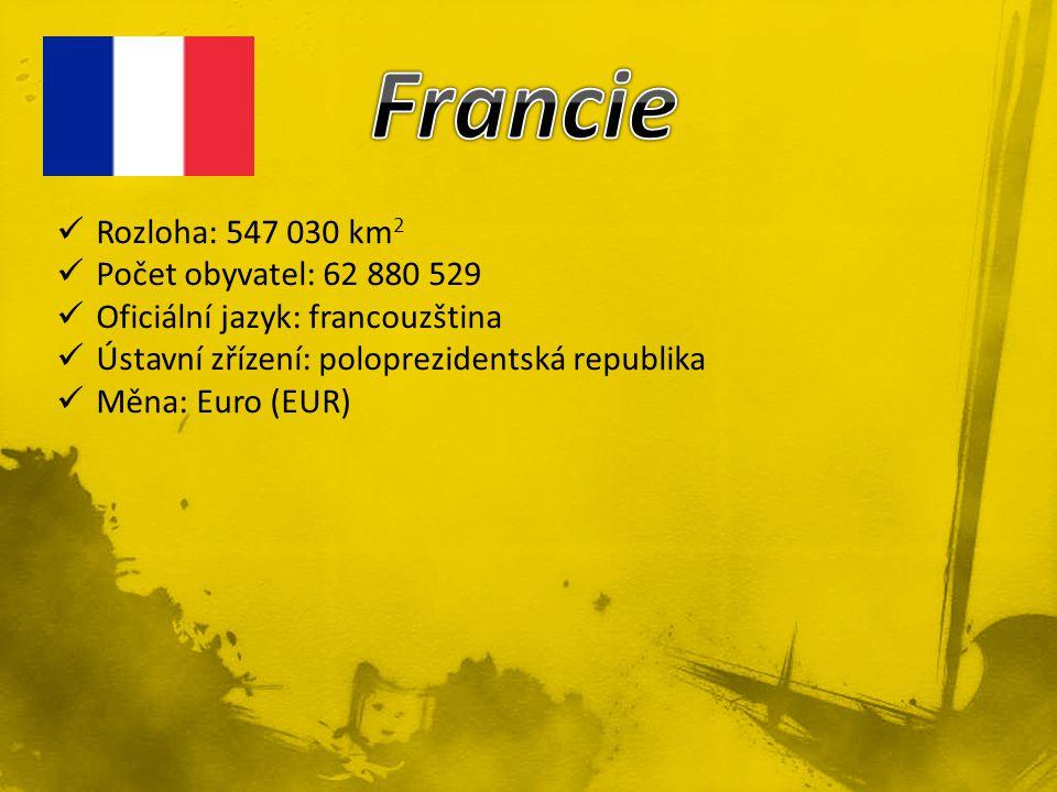 Francie Rozloha: 547 030 km2 Počet obyvatel: 62 880 529