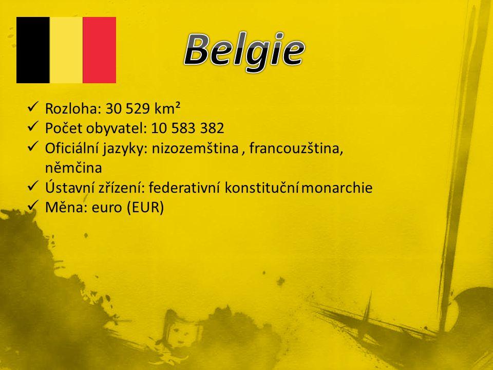 Belgie Rozloha: 30 529 km² Počet obyvatel: 10 583 382