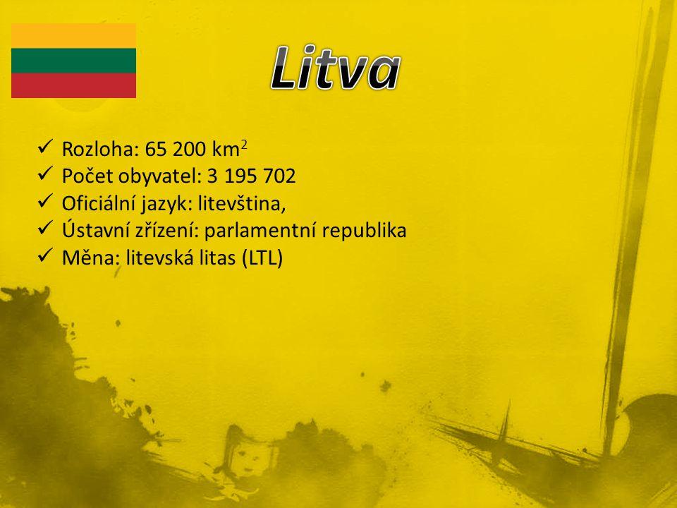 Litva Rozloha: 65 200 km2 Počet obyvatel: 3 195 702