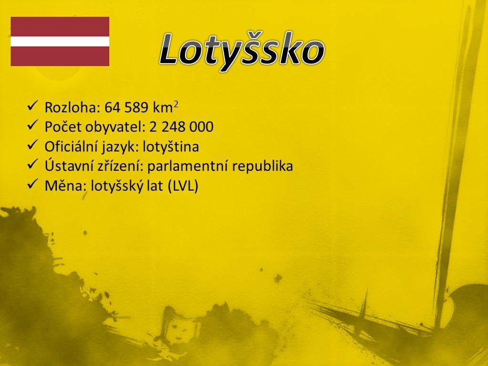 Lotyšsko Rozloha: 64 589 km2 Počet obyvatel: 2 248 000