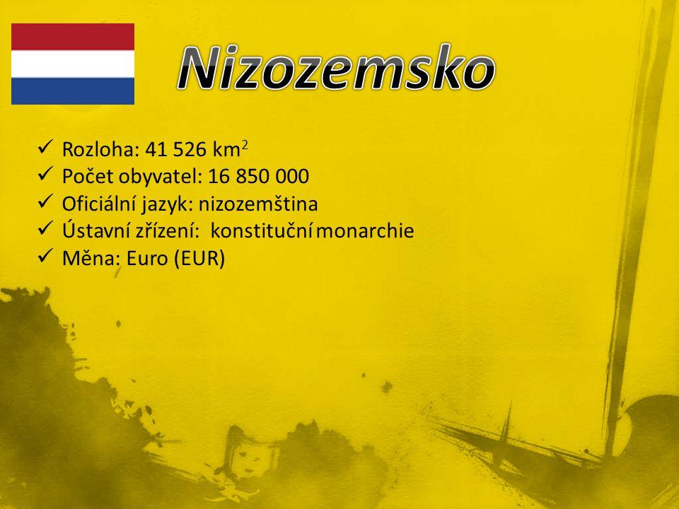 Nizozemsko Rozloha: 41 526 km2 Počet obyvatel: 16 850 000