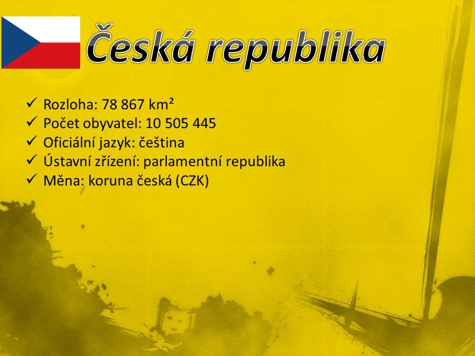 Česká republika Rozloha: 78 867 km² Počet obyvatel: 10 505 445