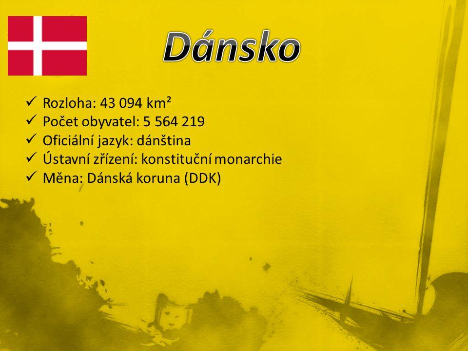 Dánsko Rozloha: 43 094 km² Počet obyvatel: 5 564 219