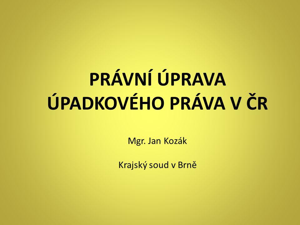 PRÁVNÍ ÚPRAVA ÚPADKOVÉHO PRÁVA V ČR