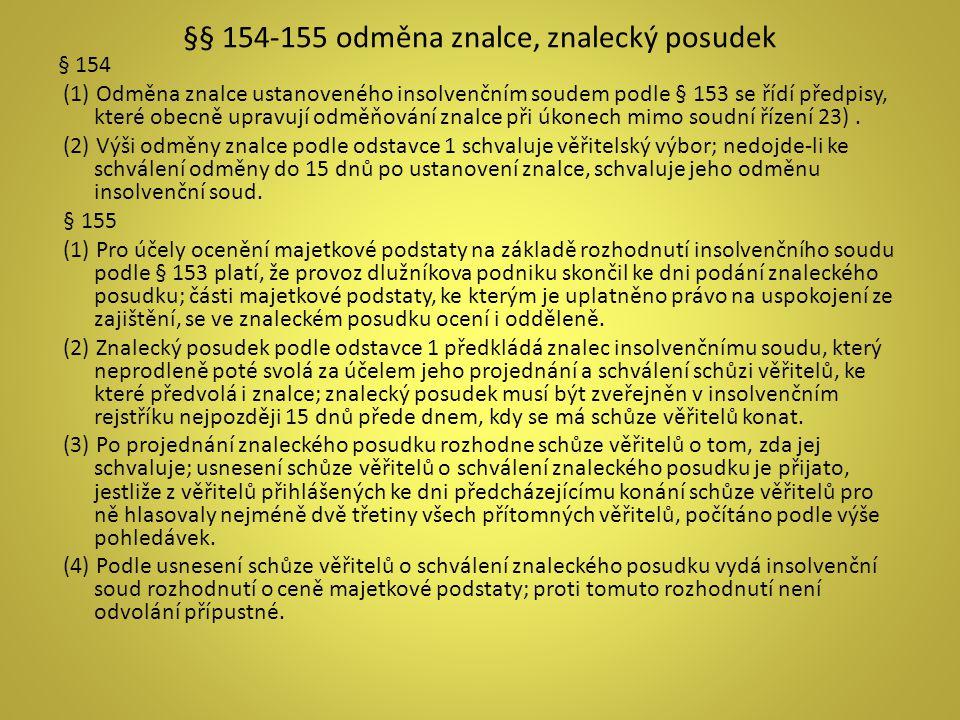 §§ 154-155 odměna znalce, znalecký posudek
