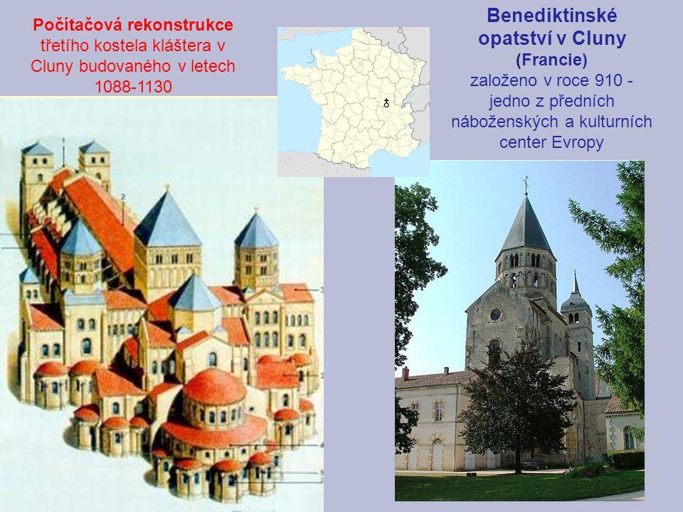 Benediktinské opatství v Cluny (Francie)