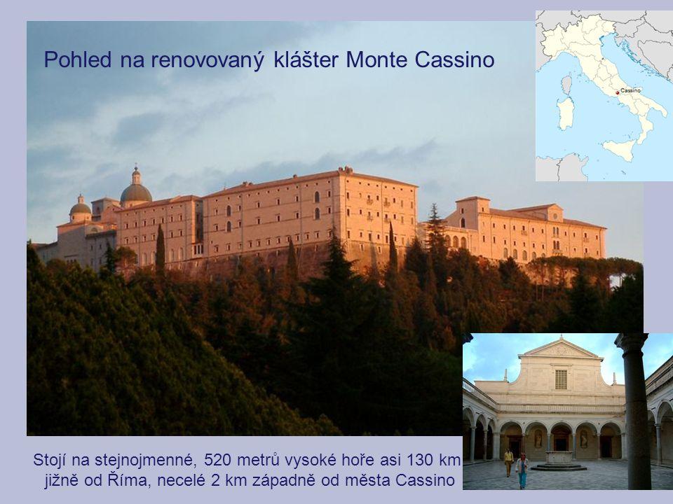 Pohled na renovovaný klášter Monte Cassino