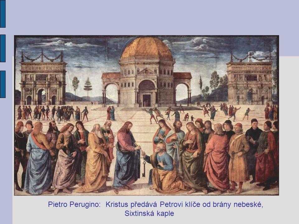 Pietro Perugino: Kristus předává Petrovi klíče od brány nebeské, Sixtinská kaple