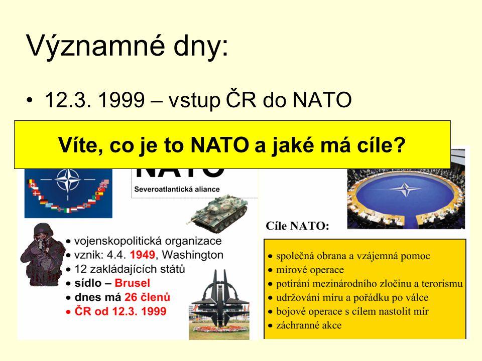 Víte, co je to NATO a jaké má cíle