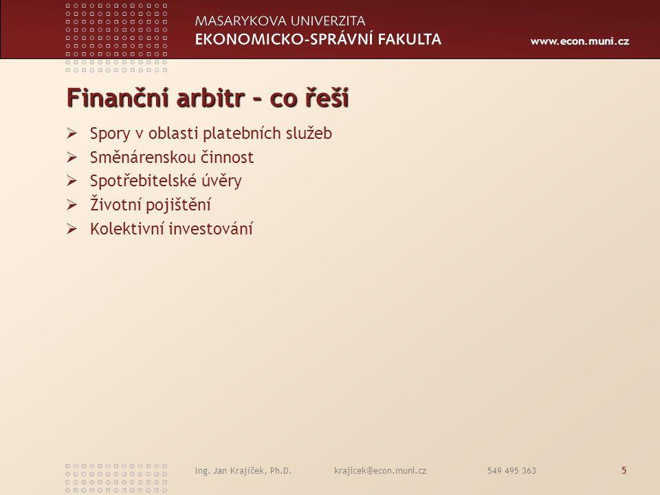 Finanční arbitr – co řeší