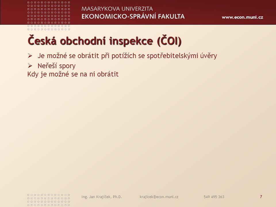 Česká obchodní inspekce (ČOI)