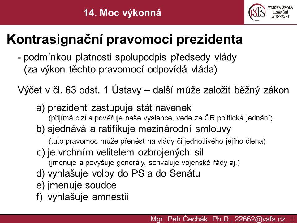 Kontrasignační pravomoci prezidenta