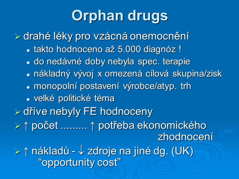Orphan drugs drahé léky pro vzácná onemocnění