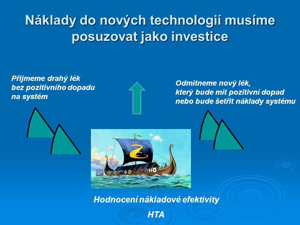 Náklady do nových technologií musíme posuzovat jako investice