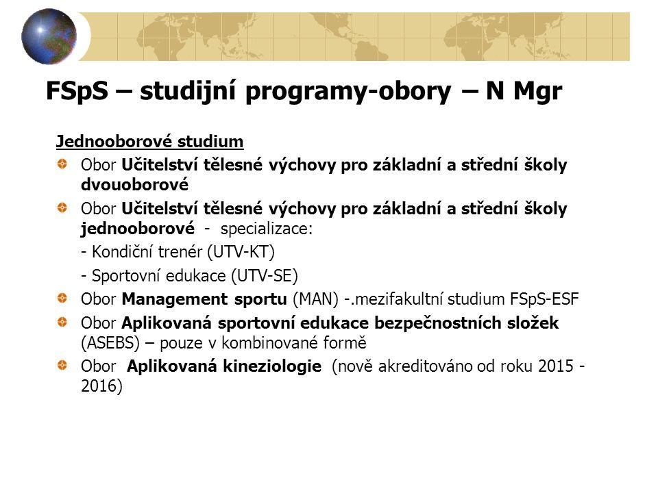 FSpS – studijní programy-obory – N Mgr