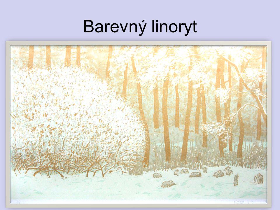 Barevný linoryt