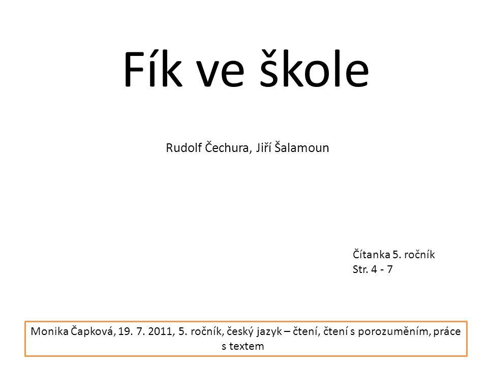 Rudolf Čechura, Jiří Šalamoun