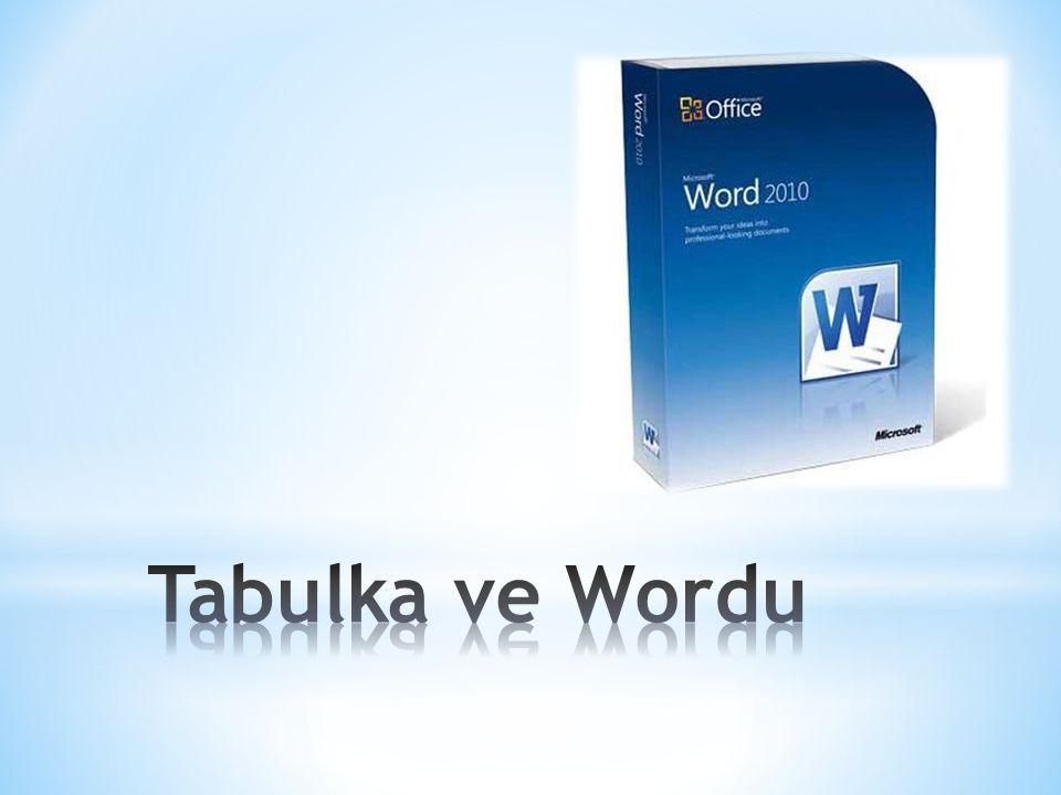 Tabulka ve Wordu
