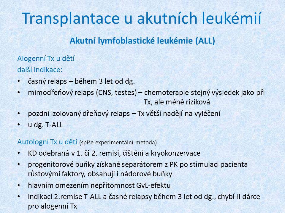 Transplantace u akutních leukémií